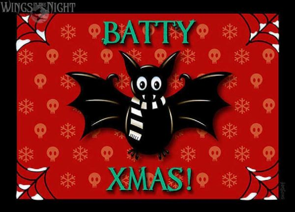 Snugbat BATTY XMAS Gothic Christmas Card